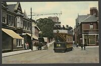 Postcard Newport Monmouthshre Wales early view of Stowhill with Tram etc by Tuck