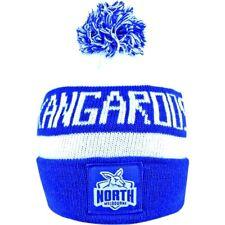AFL NORTH MELBOURNE KANGAROOS TRADITIONAL BAR BEANIE - BRAND NEW