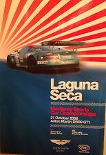 Aston Martin DBR9 GT1 Laguna Seca 2006 Event Rare Car Poster:>)