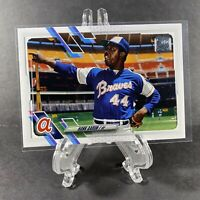 2021 Topps Series 1 - HANK AARON #120 - Short Print Image Photo Variation BRAVES