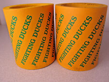 Lot 2 University of OREGON Beer Can Cooler Coozie Coozy Fighting DUCKS U of O