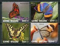 Guinea-Bissau Butterflies Stamps 2020 MNH Monarch Butterfly Fauna 4v Set