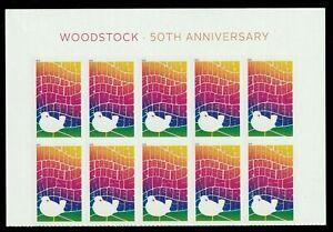 WOODSTOCK MUSIC FESTIVAL 50th ANNIVERSARY 10 US FOREVER STAMP HEADER SHEET #5409