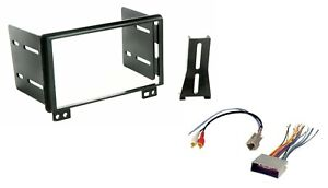 Car Radio Stereo CD DVD Player Dash Install Mounting Trim Kit + Wire Harness