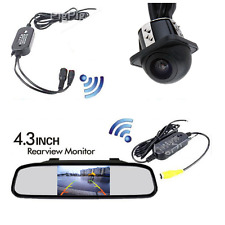 "DIY Rear View Kit Wireless Reverse Car Backup HD Camera With 4.3"" Mirror Monitor"