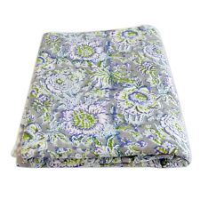 10 Yard Hand Block Floral Print Cotton Voile Fabric Indian Dress Sewing Material