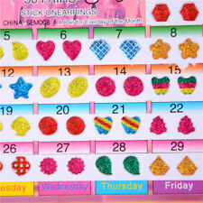 1Sheet Colorful Kid Crystal Stick Earring Sticker Kids Jewellery Party Toy D*