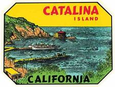 Catalina Island California  Avalon   Vintage 1950's Style  Travel Decal Sticker