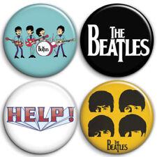 The Beatles, new, A - 4 chapas, pin, badge, button