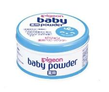Pigeon Medicated baby powder blue can 150g From Japan F/S