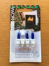 Noma 12v 1.1w W1 Blue Christmas Fairy Light Spare Lamps, 4 Pack inc Fuse Bulb