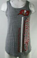 Tampa Bay Buccaneers NFL Women's Grey #3 Jameis Winston Tank Top