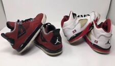 Kids Nike Air Jordan Lot Retro 5 Fire Red  & Toro 4 Size 13c Toddler Two Pairs