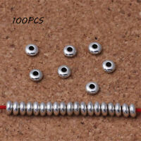 100pcs Silver Stainless Steel Round Spacer Beads DIY Jewelry Making Wholesale
