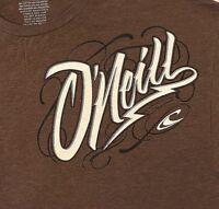 O'Neill T-shirt 2XL Brown Mens Premium Fit Surfing Beach Sport Short Sleeve