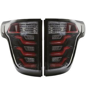 11-15 FORD Explorer Taillights w/ 3D LED Light Tube Clear/Black/Red DOT SAE