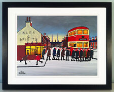 """JACK KAVANAGH """"GOING TO THE MATCH"""" SWINDON TOWN FRAMED PRINT"""
