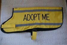 Dexil 'Adopt Me' Dog Coat Reflective Waterproof Fleece Lined Size Large - XL