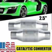 "2x 2.5"" Universal Thunderbolt Performance High Flow Catalytic Converter"