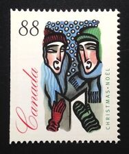 Canada #1535as Left MNH, Christmas Carolling Booklet Stamp 1994