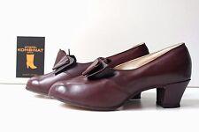 TRUE VINTAGE Damen Pumps Schuhe Halbschuhe UK 4 EUR 37 braun Schleife Glattleder