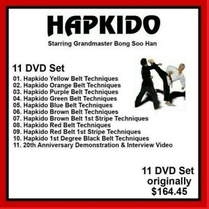 HAPKIDO 11 DVD SET with Bong Soo Han belt techniques mma panther productions