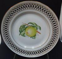 "SH6 b&g BING & GRONDAHL RETICULATED FRUIT PLATE, 8 1/2"" porcelain PEACH"