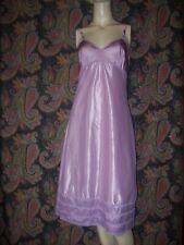 Vintage Lorraine Purple Silky High Sheen Taffeta Empire Slip Nighty Lingerie 36