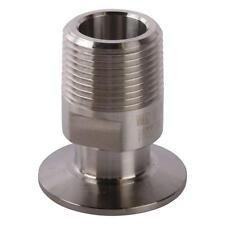 Tri Clamp/Clover to MNPT Adapter   1 inch x 1.5 (1 1/2) - Sanitary SS304