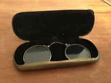 Antique Silver Pince Nez Eyeglasses With Case