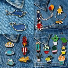 Cartoon Enamel Piercing Brooch Pin Collar Badge Corsage Lady Christmas Cute Gift
