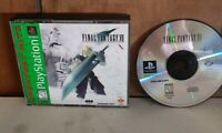 Final Fantasy VII 7 PlayStation 1 no manual Tested