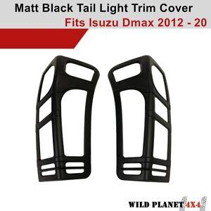 Tail Light Trim Cover Matte Black Protector Suit ISUZU DMAX 2016-2020 D-MAX