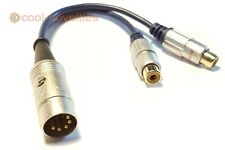 NAIM / QUAD 5 PIN DIN TO PHONO RCA SOCKETS OFC INTERCONNECT CABLE (15 CM)