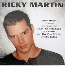 "RICKY MARTIN ""NEW ALBUM FEATURES LIVIN' LA VIDA"" AUSTRALIAN PROMO POSTER"