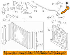 TOYOTA OEM 09-18 Corolla 1.8L-L4 Radiator-Rear Hose 165710T040