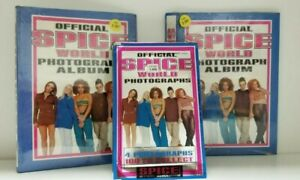 Spice Girls Photograph Album and 30 Photo Pack LOT TWO ALBUMS WITH  30 PACKS
