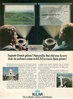 1979 Advertising' Vintage Klm Holland Royal Dutch Airlines Superb Dutch Pilots
