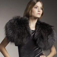 Alice Olivia Fur Bolero Gray Black