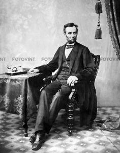 ABRAHAM LINCOLN Photo CIVIL WAR PRESIDENT Picture Portrait Beard Print 8x10 #3