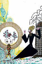Anne Fish 1922 PERSIAN IRANIAN GIRL w MAGICIAN MAGIC Art Deco Print Lithograph