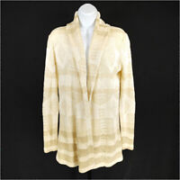 Lauren Ralph Lauren Linen Cardigan Tan Women's XS Long Sleeve Open Front