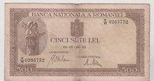 ROUMANIE ROMANIA 500 LEI 1942
