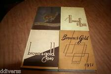 Lot Of 4 Western Michigan College Yearbooks 1947 1948 1949 1951 See Pix!!