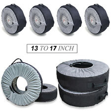 """Set of 4 Tyre Wheel Cover Storage Bag Spare Tyre Cover 13"""" To 17"""" Winter Snowing"""
