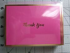 Hallmark Hot Pink and Gold Thank You Cards 20 cards and envelopes