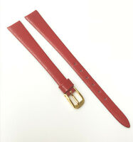 Speidel Genuine Calf Germany 11mm Red Tone Gold Tone Buckle Watch Band