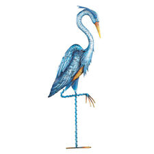 Collections Etc Blue Heron Crane Metal Garden Stake