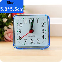 Portable Cute Concise Square Small Bed Compact Travel Quartz Beep Alarm Clock