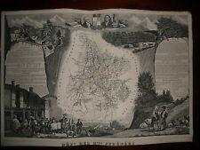 CARTE GEOGRAPHIQUE PUBLIE PAR COMBETTE 1845 / DEPARTEMENT HAUTES PYRENEES